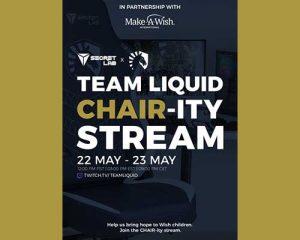 Secretlab inaugure son partenariat avec Make-A-Wish lors d'un événement-bénéfice de 24 heures diffusé en continu par Team Liquid