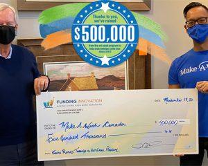 500 000 $ en dons : un jalon à célébrer