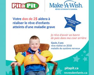 Pita Pit continue de soutenir les rêves qui changent des vies